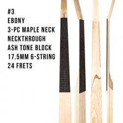 Ebony Bass Neck With Maple #3
