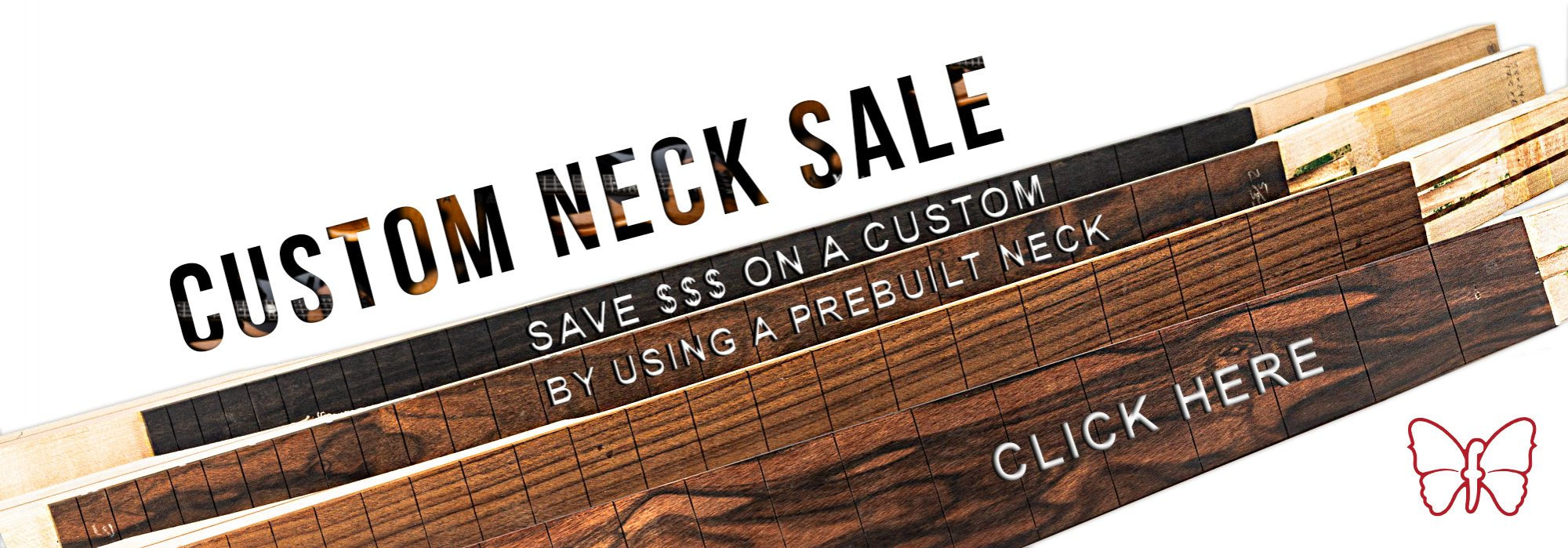 Custom Neck Sale Banner and CTA