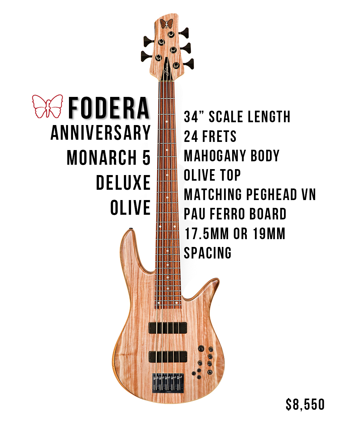 Monarch 5 Deluxe Bass Stats