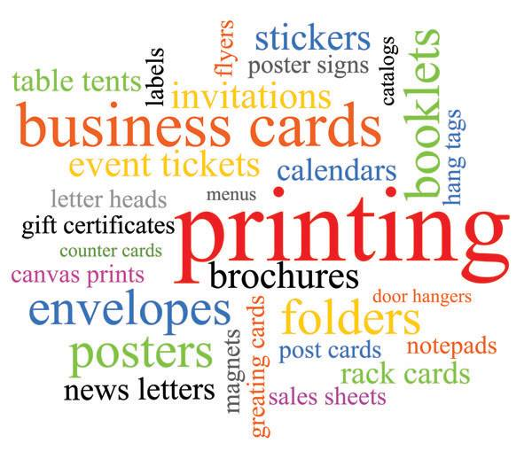Business printing collage