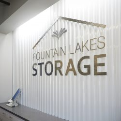 An image of the Fountain Lakes Storage logo in St. Charles, MO.