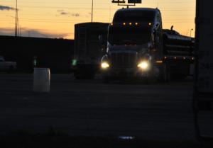 night-truck-stop