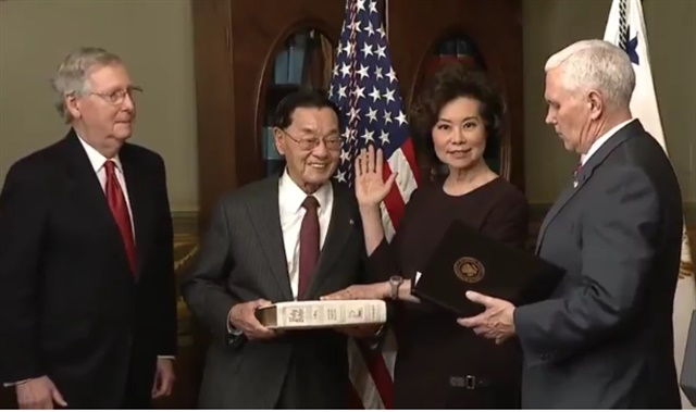 Chao swearing in jan 2017