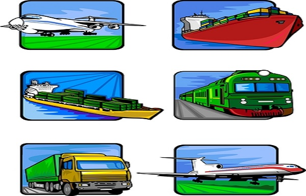 Six pictures of vehicles. Transport mashines. Vector illustration - color + b/w versions.