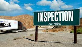Inspection ahead