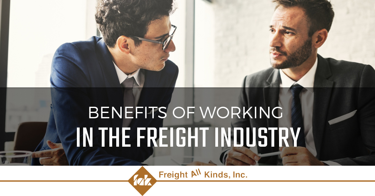 Learn about the benefits of working the freight industry