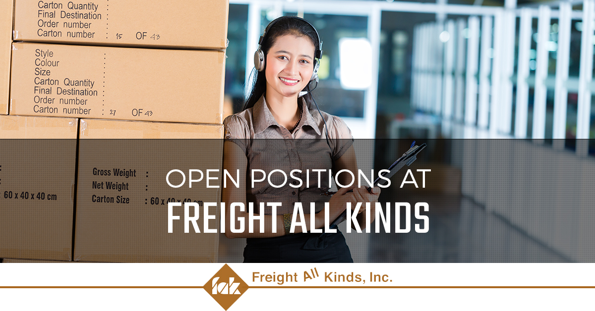 Learn about available freight careers at Freight All Kinds
