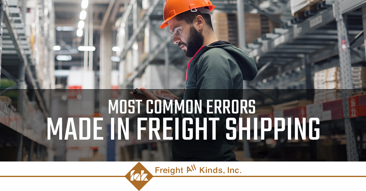 Common errors made in the freight industry