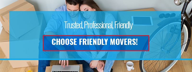 An advertisement from Friendly Movers Virginia