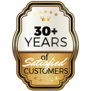 30+ Years of Satisfied Customers Emblem