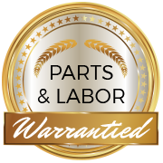 Parts and Labor Warrantied Emblem