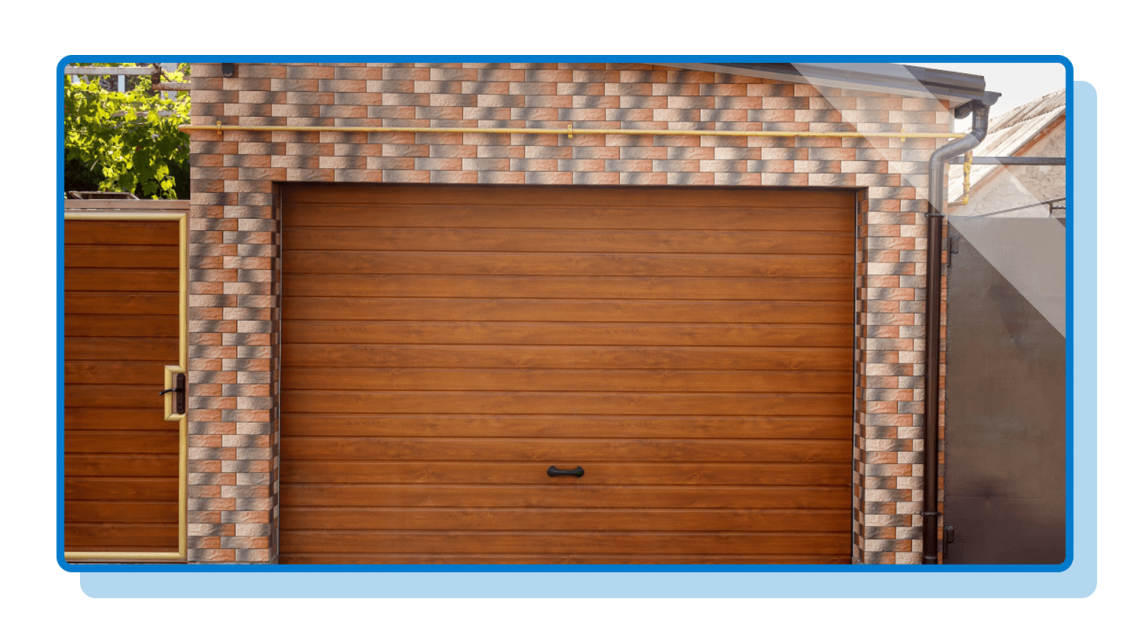 Garage Door With Wood Panels