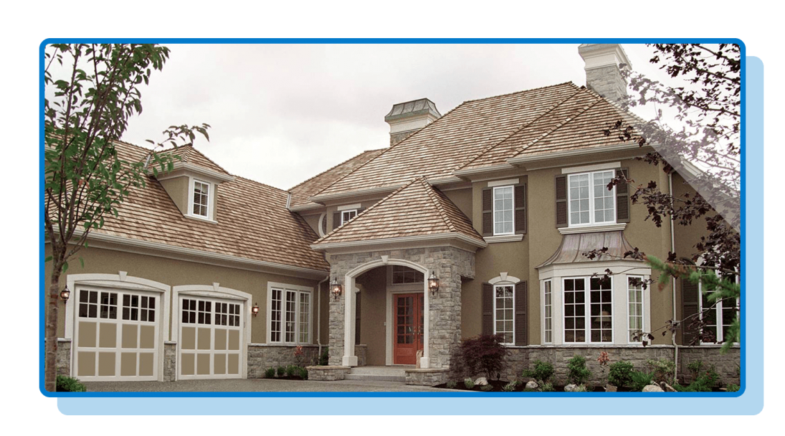 Large Home With Two-Bay Garage Doors