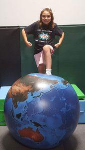 child with globe 3