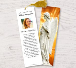 Memorial Bookmarks: Laminated Obituary Funeral Keepsakes with ...