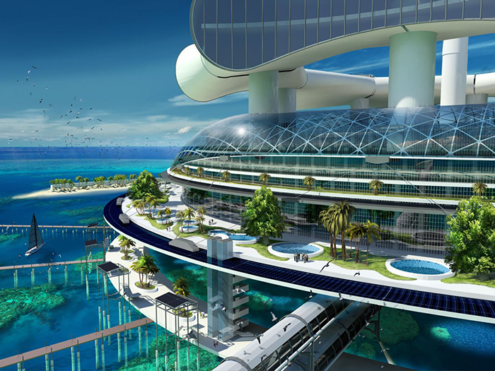 Architect Richard Moreta Castillo envisions a self-sufficient eco-resort, called Grand Cancun