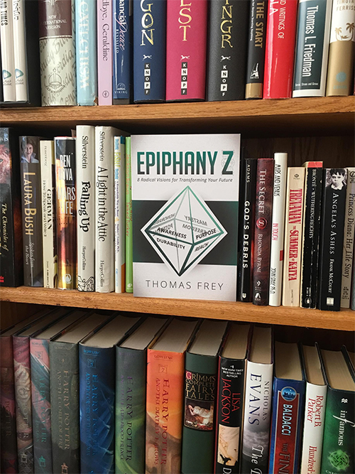 Every bookshelf should have a copy of Epiphany Z, essential reading for the 21st century. Order yours today!