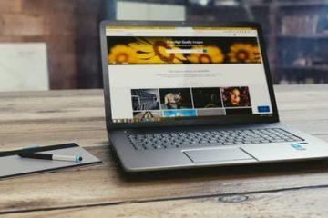 Website open on a laptop