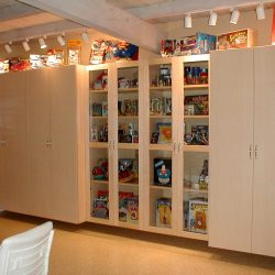 Garage organization and display case in San Francisco