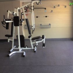 Garage gym space with Epoxy floor paint San Francisco