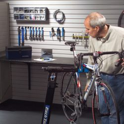 garage turned into bike repair workshop San Francisco