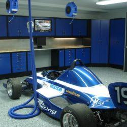 Metal garage cabinets, epoxy floor coating, work station San Francisco