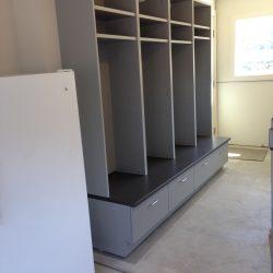 Gray garage lockers and organization ideas San Francisco