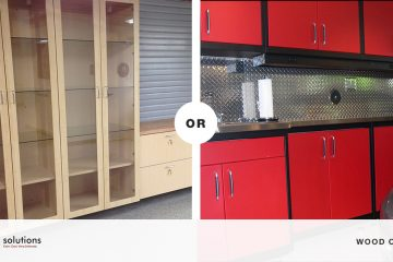 Wooden garage cabinets or metal garage cabinets San Francisco