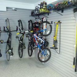 Bike racks and storage in San Francisco garage