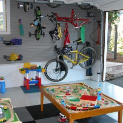 Garage playroom for children storage solutions San Francisco
