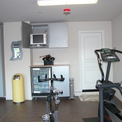 Garage fitness center epoxy floor coating San Francisco