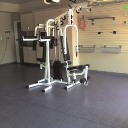 Garage floor epoxy for fitness center San Francisco