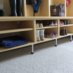 Wooden storage lockers for shoes garage San Francisco