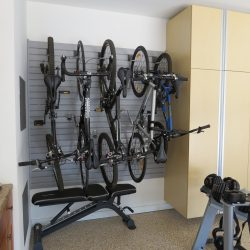 Wall storage space and wire racking for bikes San Francisco