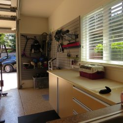 Indoor gym in garage and sporting goods storage space San Francisco
