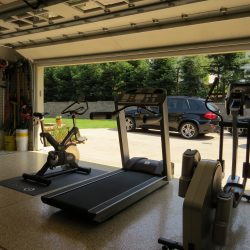 San Francisco garage epoxy floor paint in fitness center