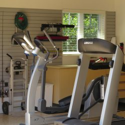 Garage fitness center with epoxy floor coating San Francisco