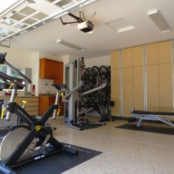 Garage gym storage lockers and epoxy floor coating San Francisco