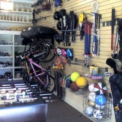 Garage racking and shelving to hold sporting equipment