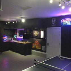 Man cave game room garage space San Francisco