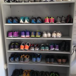 Shoe storage solutions in garage shelving San Francisco