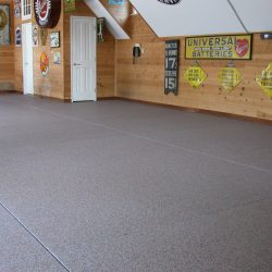 Epoxy floor coating garage space San Francisco