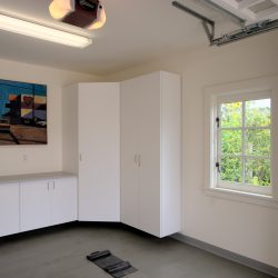 Garage wall cabinets and workstation in San Francisco