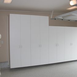 Wooden garage cabinets for easy storage in San Francisco