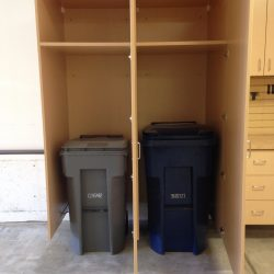 Trash and recycling garage organization ideas San Francisco