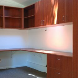 Garage office space wooden storage cabinets San Francisco