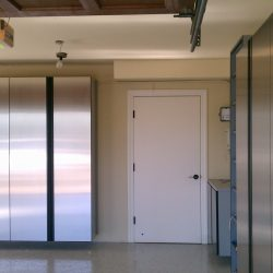 Metal cabinets in a San Francisco garage