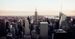 Panoramic view of New York City.