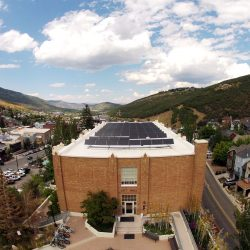City Hall building in Park City, Utah with commercial solar panels - Gardner Energy