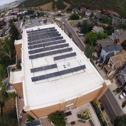 Solar panels installed on a City Hall building in Park City, Utah - Gardner Energy